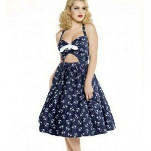 EUC anchor print Renee dress